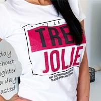 Šedé triko Jolie velikost M