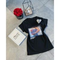 Černé triko New Bag! velikost S a M