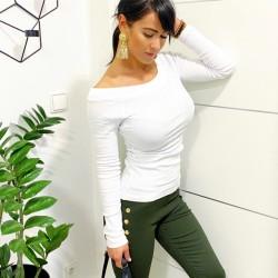 Bílé basic žebrované triko velikost S a M