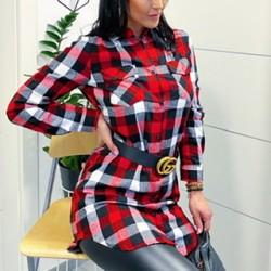 Delší košile /šaty  velikost S a M model červeno-bílo-černý