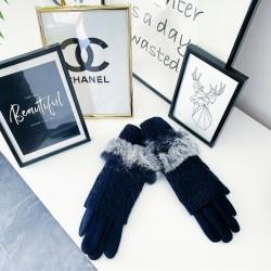 Tmavě modré teplé rukavice