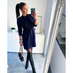 Tmavě modré luxusní šaty Erin