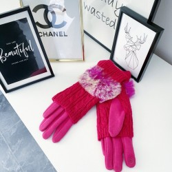 Fuchsiové teplé rukavice