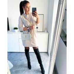 Krémové luxusní šaty Erin