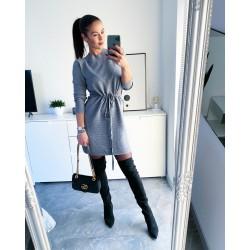 Šedé luxusní šaty Erin