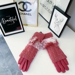 Růžové teplé rukavice