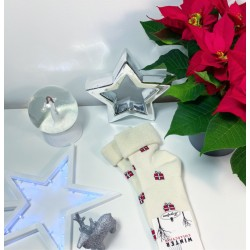 Silné teplé vánoční ponožky model A