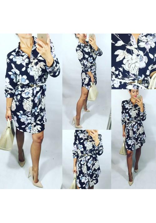 Černé květované šaty styl Zara