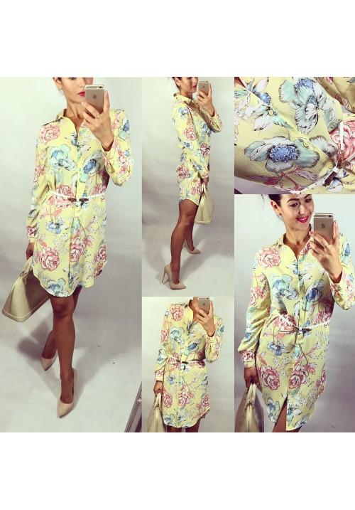 Pastelově žluté šaty styl Zara