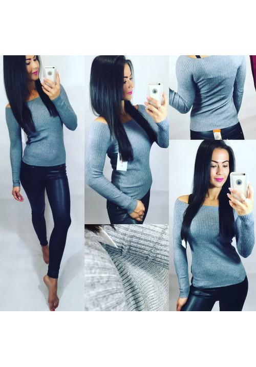Basic svetr šedý