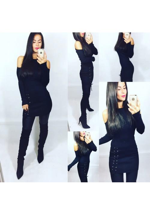 Černé úpletové šaty VIOLA