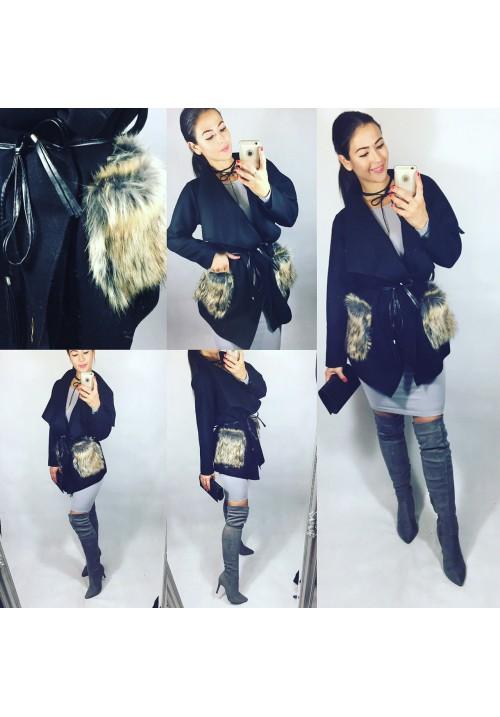 Černý kabátek Moris