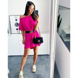 Fuchsiové šaty Angela +dárek