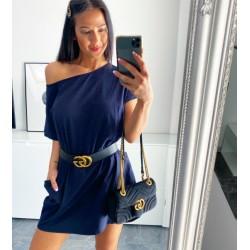 Tmavě modré šaty Angela + dárek