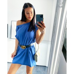 Středně modré šaty Seňorita + dárek