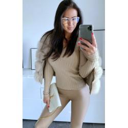 Krémový svetr Luxy