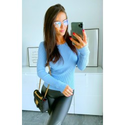 Světle modrý svetr Selena