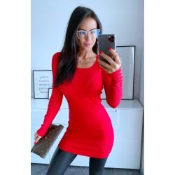 Rudé šaty Sabrina