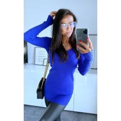 Královsky modré šaty Simona