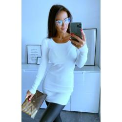 Bílé šaty Sabrina