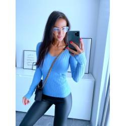 Modrý svetr Luxy