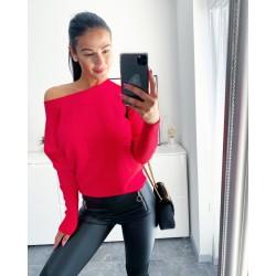 Rudý luxusní svetr Sandra S/M