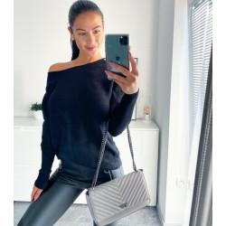Černý luxusní svetr Sandra S/M