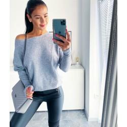 Šedý luxusní svetr Sandra S/M