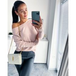 Růžový luxusní svetr Sandra S/M