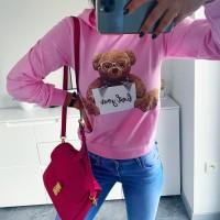 Růžová mikča Teddy vel M a L