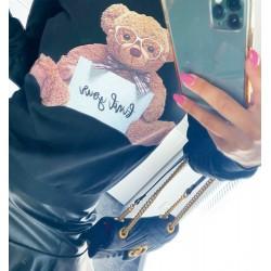 Černá mikina Teddy vel S M L