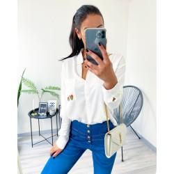 Bílá basic košile velikost S/M