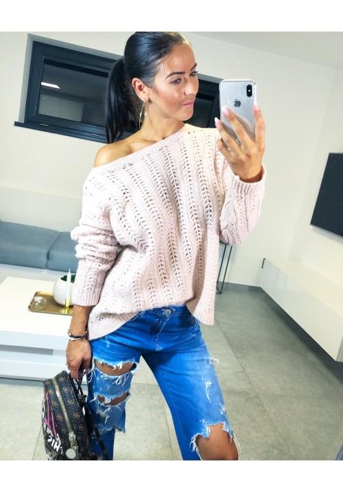 Růžový svetr Ava