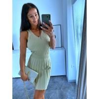 Krémová sukně Love