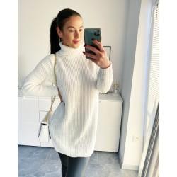 Smetanové svetrové šaty Lori