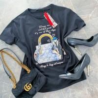 Černé triko Shopping vel S M L