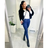 Modré kalhoty Lora vel S a M