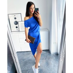 Modro-fialkové šaty Asym
