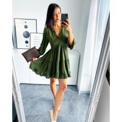 Khaki šaty Dora
