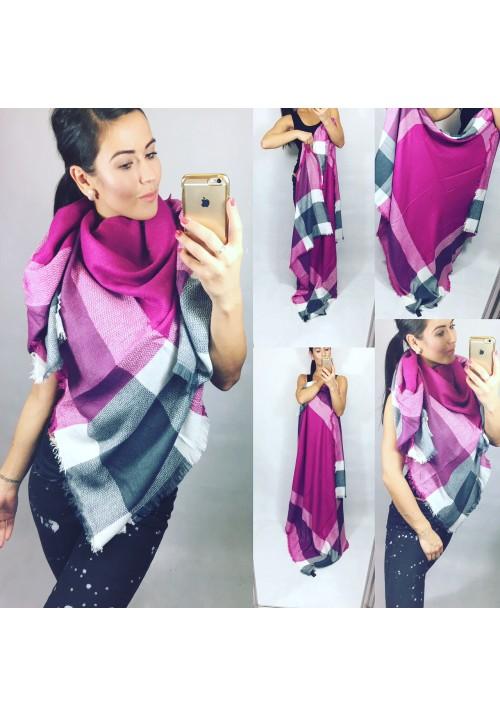 Maxi šátek fialovo-šedý