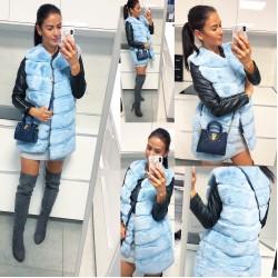 Baby Blue luxusní vesta