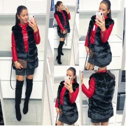 Černá luxusní vesta
