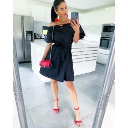 Černé šaty Roses UNI S/M