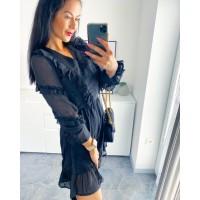 Volánkové šifon šaty Sia vel S