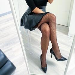 Sexy síťované punčochové kalhoty S/M