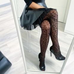 Leopardí punčochové kalhoty 20 den S/M
