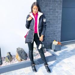 Černá teplá luxusní bunda velikost  L