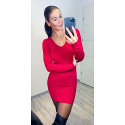 Rudé šaty Cayen
