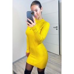 Hořčicové šaty Clips