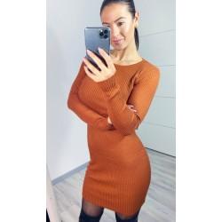 Hnědé šaty Mocan